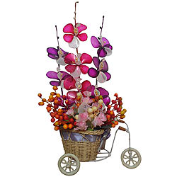 Only for You Pink and Purple Long Lasting Flowers with Beads