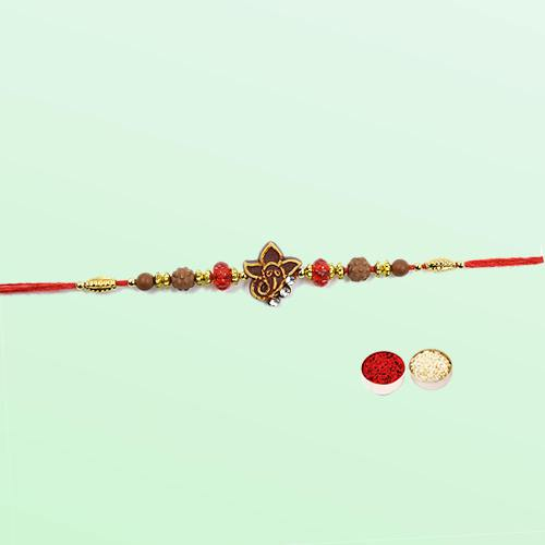 Breathtaking Rakhi with Ganesha in the Centre