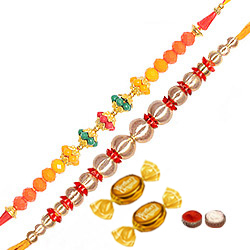 2 Elegant Thread Rakhi