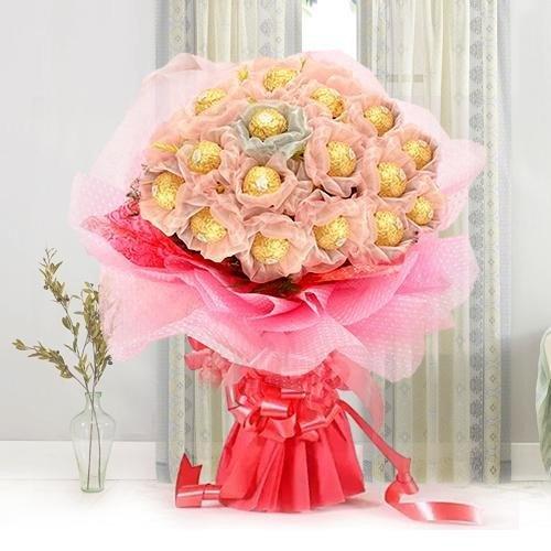 Enchanting Delicacies Mothers Day Ferrero Roacher Chocolate Bouquet
