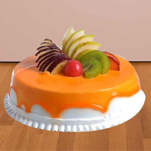 Mind Blowing Treat of 1/2 Kg Fresh Fruit Cake