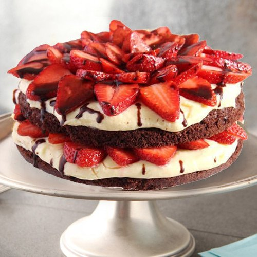 Tempting 2 Kg Strawberry Cake from 3/4 Star Bakery