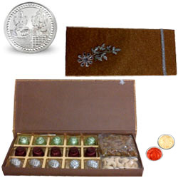 Dazzling Gift Combo with Celebration Spirit with free Roli Tilak and Chawal