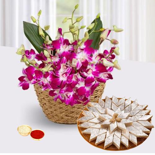 Orchids Basket�and Kaju Katli