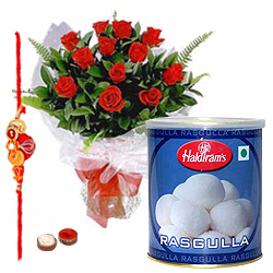 Dashing Rasgulla Treat Raksha Bandhan Hamper