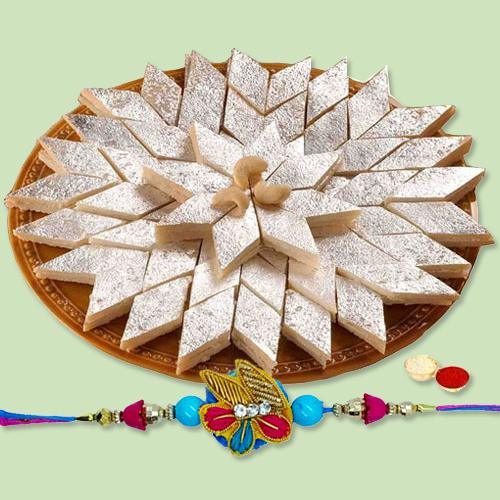 Delectable Kaju Katli and Holy Rakhi