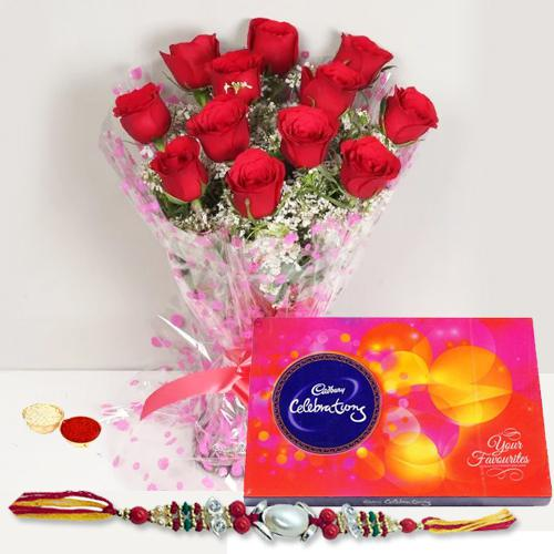 Celebrating with roses and Cadbury
