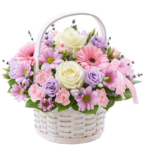 Multicolored Seasonal Flowers Arrangement of Good Wishes