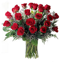 Charming 40 Red and White Roses Big Arrangement