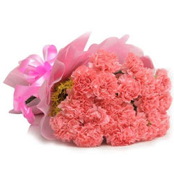 Regal Carnations Bouquet in Pink Colour