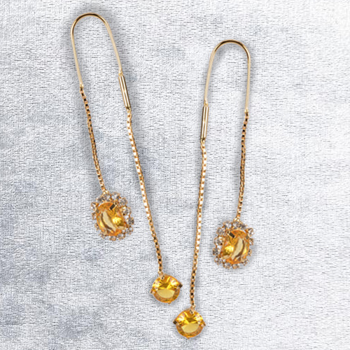 Exuberantly Voguish Sui Dhaga Earrings from Avon