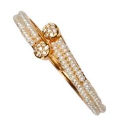 Stylish Pearl Bangles (2 Rows)