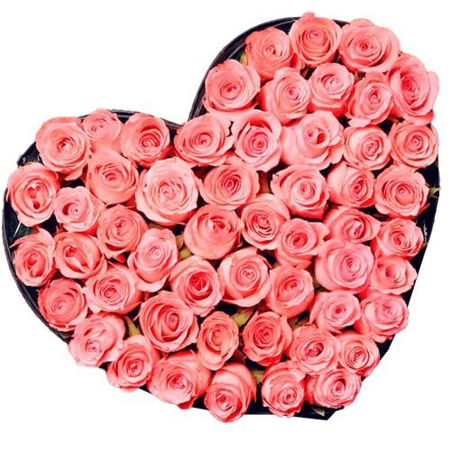 <u><font color=#008000> MidNight Delivery : </FONT></u>:Pink Heart Shaped Arrangements