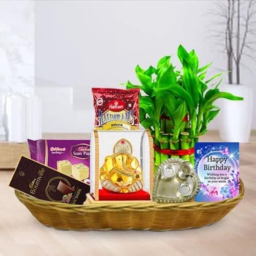 Sweet N Salty Birthday Gift Basket<br>