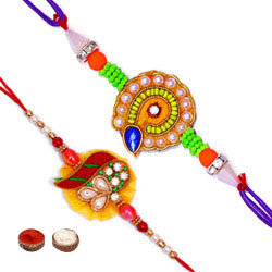 Two Gorgeous Rakhi Set