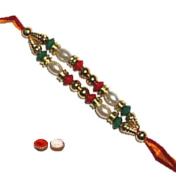 Superb One Twin Chain Beads Rakhi