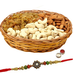 Mixed Dry Fruits 300 Gms with a Rakhi