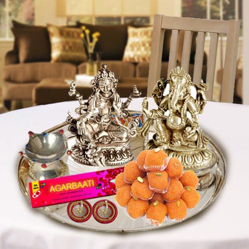 Silver Laxmi Puja Hamper