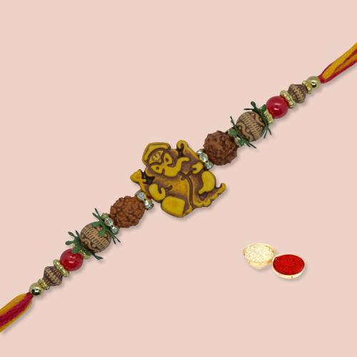 Beautiful Auspicious Rakhi for Brother with Love