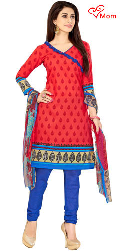Suave Desi Style Welcome Cotton N Chiffon Printed Salwar Suit