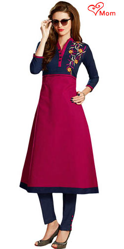 Superb Collection of Maroon N Blue Cotton Printed Suit