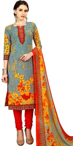 Charming Ladies Special Floral Print Spun Cotton Salwar Kameez Set