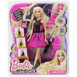 Spectacular Barbie Blonde Hair Fashion Endless Curls Doll