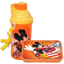 Fancy Lunch Break Mickey Pattern Tiffin Set