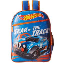 Outstanding Blue N Orange Hot Wheels School Bag