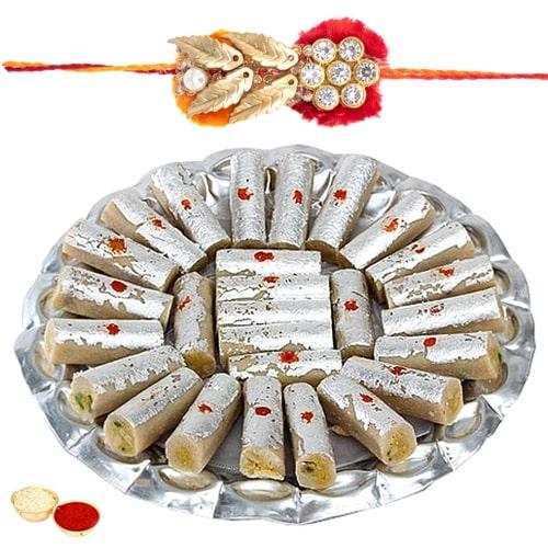 Rakhi with Kaju Roll