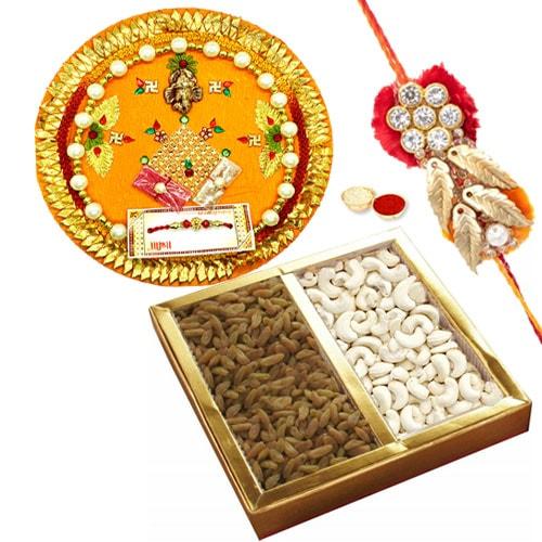 Rakhi Thali with Dry Fruits