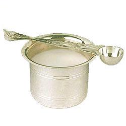 Silver panchapatra and pali