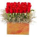Graceful Authentic Love 35 Red Roses Arrangement and Greens