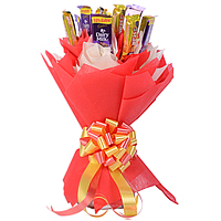 Exquisite Collection of Cadbury Dairy Milk with 5 Star Chocolates arranged beautifully in a Bouquet