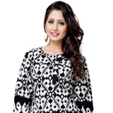 Arresting Black Coloured Cotton Printed Kurti