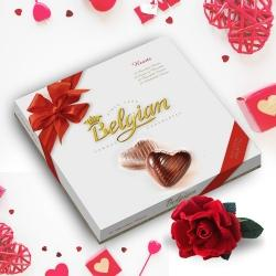 Ecstatic Belgian Chocolates  with a velvet Rose an Exotic Feel