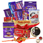 Appetite's Fun Chocolate Assortment with One Rakhi and Roli Tilak Chawal