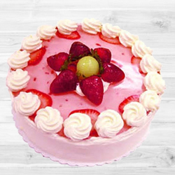 Relishing Strawberry Cake (1Lb) to West Godavari