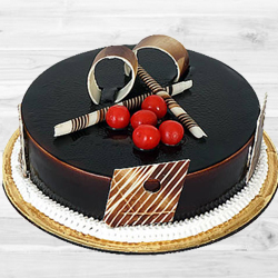 Amazing 1 Lb Dark Chocolate Truffle Cake to Krishna