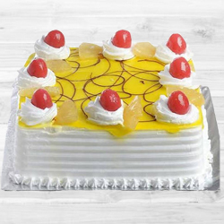 Eggless Pineapple Cake (1Kg) to Begumpet