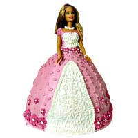 Lip Smacking Barbie Cake to Secundrabad