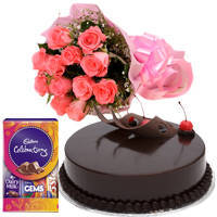 Attractive Selection of Flower, Chocolate and Cake Gift