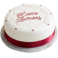 Tasteful Warmth Birthday Vanilla Cake