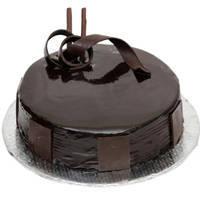 Decorating Closeness 1 Lb Birthday Dark Chocolate Cake  from 3/4 Star Bakery