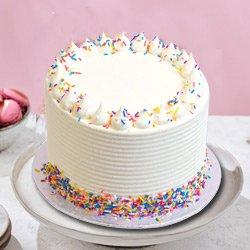 Spell-bounding Elegance 1 Lb Vanilla Cake from 3/4 Star Bakery