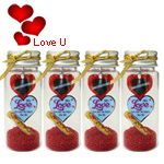 Romantic Gesture Message Bottle Pack (4 Pcs.)