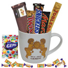 Fascinating Chocolate Combo with Gemini Astrological Sign Printed Mug