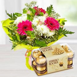 Flowers and Ferroro Rocher