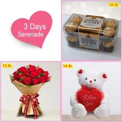 3 Day Surprise Serenade Continue Surprising your Valentine on 15th too !