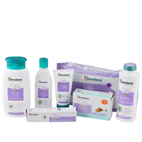 Smoothing Arrangement of Himalaya Baby Care Products and a Sweet Teddy